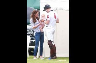 Au match de polo de Cirencester, le 15 juin 2014 au Royaume-Uni.