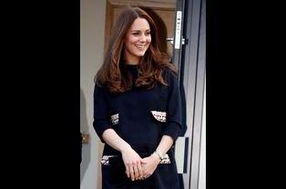 La duchesse de Cambridge, née Kate Middleton, à Londres, le 15 janvier 2015