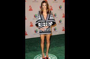 Le top-modèle Alessandra Ambrosio, à la cérémonie Latin Grammy Awards, le 20 novembre 2014