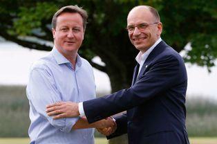 Cameron et le président du conseil italien Enrico Letta