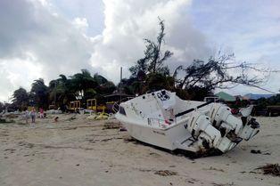L'ouragan Gonzalo ravage les Caraïbes