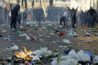 Scènes de chaos à Rome