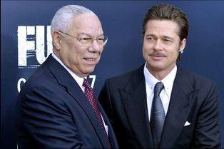 """Colin Powell et Brad Pitt réunis pour """"Fury"""""""