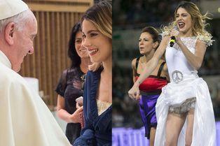 Violetta chante devant le pape François