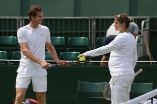 Enceinte, elle entraîne Andy Murray pour Wimbledon