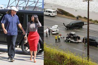 Bruce Jenner, le beau-père de Kim Kardashian, s'en sort sain et sauf