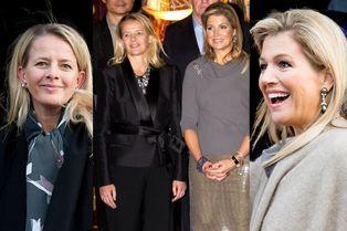 Mabel souriante aux côtés de Maxima à Amsterdam