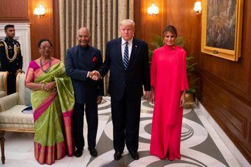Banquet présidentiel pour Donald et Melania Trump à New Delhi