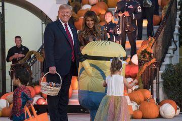 Déjà Halloween à la Maison-Blanche pour Donald et Melania Trump