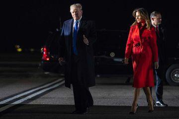 Donald et Melania Trump arrivent à Londres pour le sommet de l'Otan
