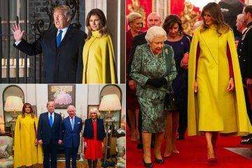 Donald et Melania Trump, convives de la réception à Buckingham Palace