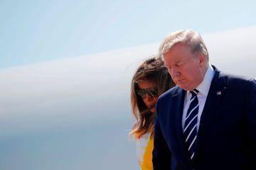Donald et Melania Trump, deux Américains à Biarritz