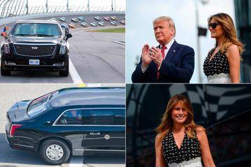 Donald et Melania Trump donnent (presque) le coup d'envoi du Daytona 500