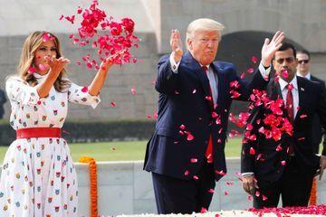 Donald et Melania Trump en Inde : hommage à Gandhi et négociations commerciales