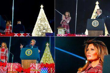 Donald et Melania Trump lancent les festivités de Noël à la Maison-Blanche