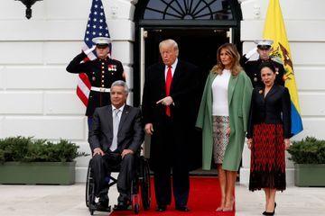 Donald et Melania Trump reçoivent le couple présidentiel équatorien