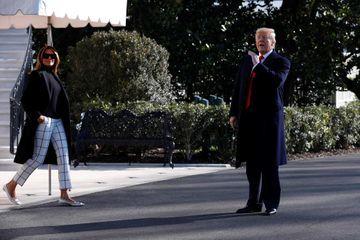 Donald et Melania Trump s'envolent pour l'Inde