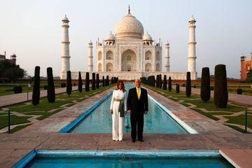 Donald et Melania Trump, séance photo au Taj Mahal