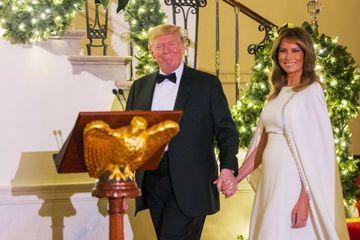 Donald et Melania Trump, souriants au Bal du Congrès malgré l'enquête en destitution