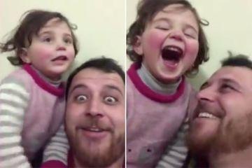En Syrie, un père invente un jeu pour que sa fille affronte sa peur des bombardements par le rire
