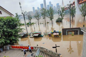 La Chine a la tête sous l'eau, la situation dramatique en images