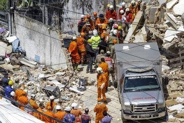 Quatre corps retrouvés après l'effondrement d'un immeuble au Brésil
