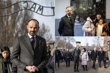 """A Auschwitz, l'émotion et le """"choc net"""" d'Edouard Philippe"""