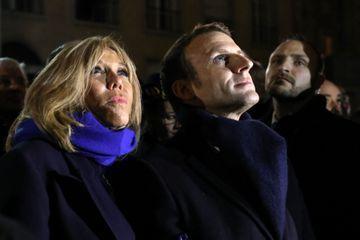 Emmanuel et Brigitte Macron ensemble à Amiens pour un spectacle à la cathédrale