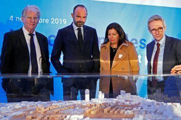 Paris-2024 : Edouard Philippe lance les travaux du village olympique en Seine-Saint-Denis