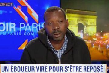 L'agent de propreté Adama Cissé au bord des larmes sur BFMTV