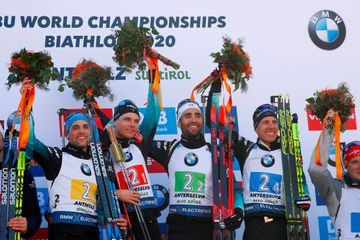 Biathlon : la France sacrée championne du monde en relais masculin, 1er titre depuis 2001