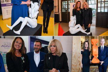 Aux côtés de Brigitte Macron, l'artiste Laurence Jenkell se mobilise pour les femmes