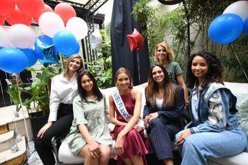 Amandine Petit fête son départ pour Miss Univers avec d'anciennes Miss