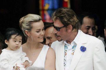 En 2005, le baptême de la petite Jade Hallyday