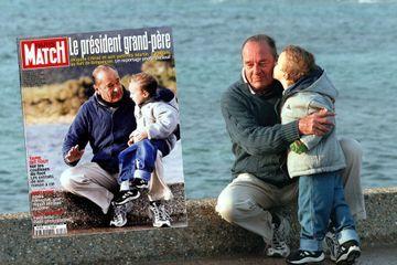 Dans les archives de Match - Il y a 20 ans, Jacques Chirac le grand-père président