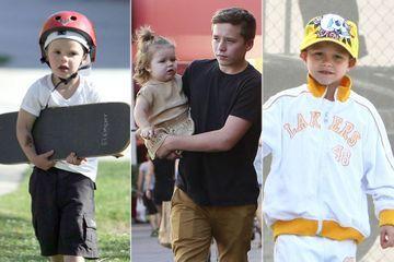 Les enfants Beckham au fil des années