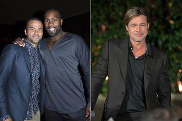 Quand Tony Parker et Teddy Riner croisent Brad Pitt au Japon