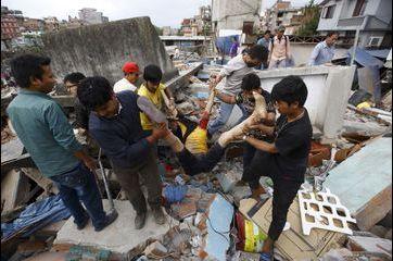 Le Népal frappé par un puissant séisme