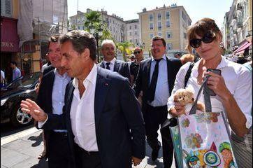 Etape niçoise pour Nicolas Sarkozy et Carla