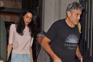 Amal Clooney en famille pour rendre visite à George