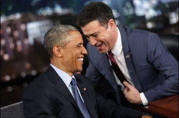 Rieur et détendu chez Jimmy Kimmel