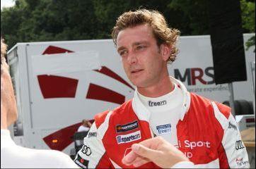 Pierre Casiraghi au départ de l'Audi Sport TT Cup