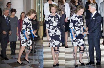 La reine des Belges ne lève pas le pied