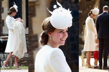 Baptême de Charlotte: Kate superbe en Alexander Mc Queen