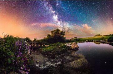 La beauté du ciel de l'île de Wight