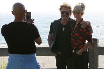 Johnny Hallyday et Læticia amoureux à Santa Monica