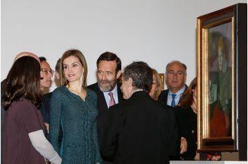 Letizia en visite au Musée de la Reina Sofia