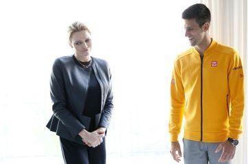 Charlène, complicité sportive avec Djokovic