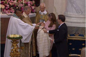 Le baptême de la princesse Leonore en vidéo