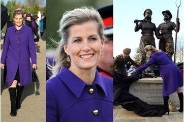 La comtesse Sophie rend hommage aux Land Girls